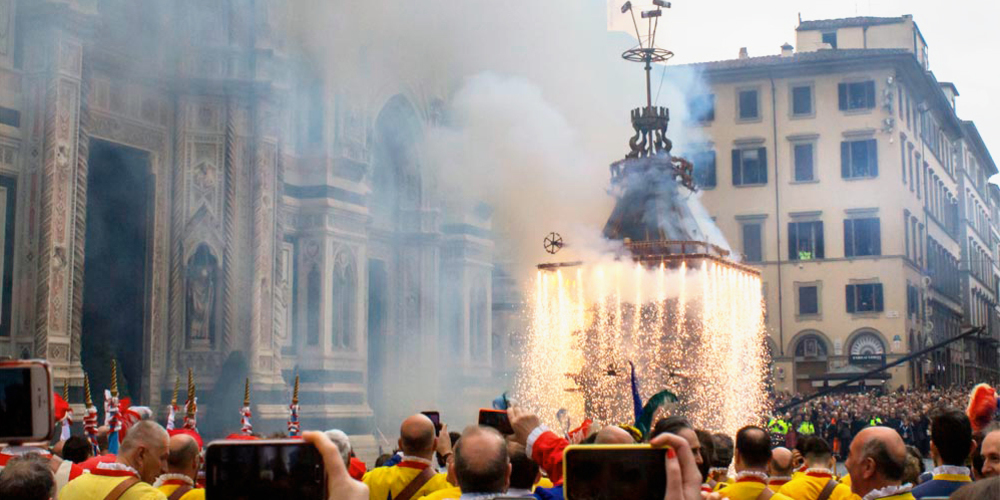 Easter 2019 in Florence: the explosion of the chart