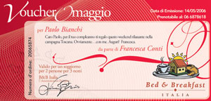 Regala un weekeend romantico - Bed & Breakfast Italia